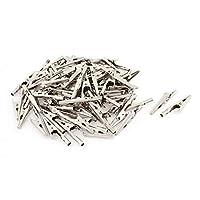 75個のワニ口テストクリップ50mmコネクタ端子クリップ電気または実験用電気用の電気機器用品