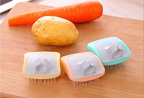 Mini-borstel voor het opvangen, kokosnootharen, potborstels voor gootsteen van gietijzer, huishoudelijke reiniging, 3 stuks Een