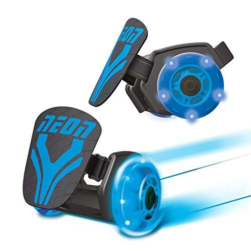 Mondo Toys Autre - Neon Street Rollers - Rotelle da scarpa - rulli a Due Ruote per i Tuoi Tacchi - W Light up Ruote LED - Misura Regolabile - portata fino a 50 kg - colore blu - 25237