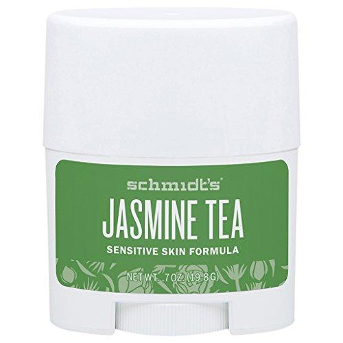 Schmidt's Jasmine Tea Deodorant Sensitive Skin Formula, 0.7 oz / 19.8 g, Travel-Sized