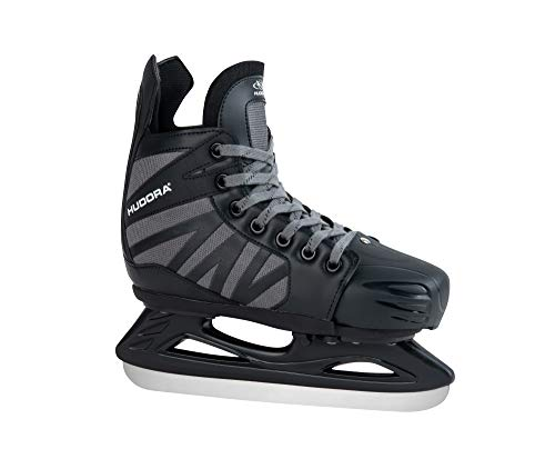 HUDORA Kinder & Jugendliche EIS-Hockey Schlittschuh Power Play, Black, Gr. 36-39-Eishockeyschuhe Ice Skates, schwarz, 36-39