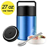 Food Thermos,27oz Thermos for Hot Food with Folding Spoon and Handle,Insulated...