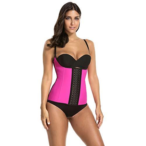 LTTA - Chaleco de goma con correa de hombro fina para mujer, para bajar de peso/adelgazamiento, color rosa