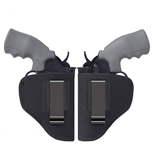 Anjilu 2 Packs Revolver Holster | Right Left IWB OWB Fast Draw | Fits Most J Frame Revolvers/Ruger LCR/Smith & Wesson Body Guard/Taurus/Charter/Most .38 Special Type Guns