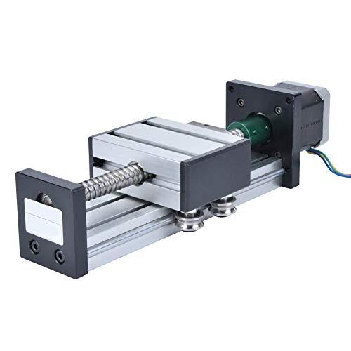 Linearführungsaktuator, 300-mm-Bereich Linearführungsschienen-Schiebetisch Kugelumlaufspindel-Aktuator-Tisch mit 57-Schrittmotor(1605 300mm)