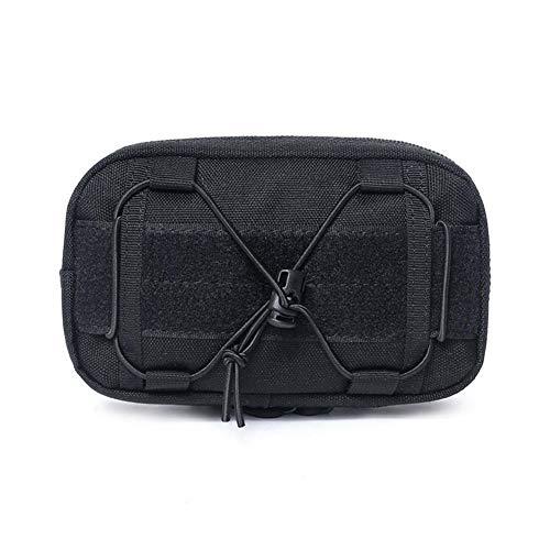 Outdoor Jagd Taktische Tasche militärische Tarnung Molle Kettle Bag Sport wasserdichte Taille Tasche (Color : Black)