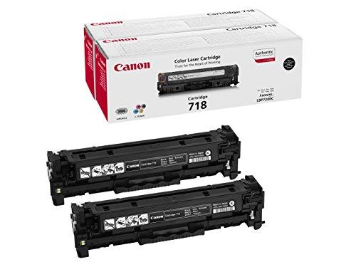 Canon 2662B017 Cartucho de tóner láser, negro, 1 caja con 2 piezas