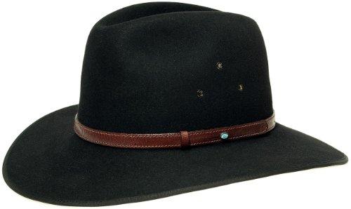 Coober Pedy Opal Cappello AKUBRA gemma traveller 63 cm - nero