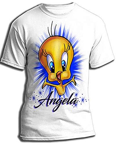 Personalized Airbrush Tweety Bird Shirt