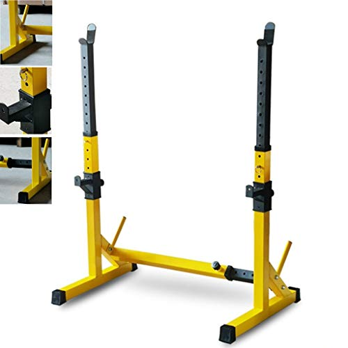Barbell Stand Ajustable En Rack con Barra Jaula De Sentadillas Home Fitness Equipment Equipo De Entrenamiento del Peso Altura Ajustable (Color : Orange, Size : (83-119) x56x(81x131) cm)