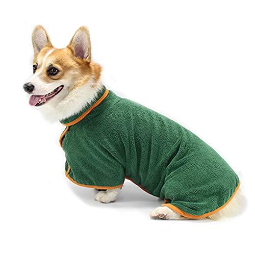 KIFFAY Albornoz de Perros para pequeños Perros medianos Grandes Súper Absorbente Secado para Mascotas Toalla de baño de Mascotas Suave cálido Puppy Abrigo de Secado Cofre Ajustable