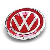 Volkswagen 1S0601149JJZQ Radzierkappe (1 Stück) Radkappe Felgendeckel Nabenabdeckung Kappe tornadorot/chrom