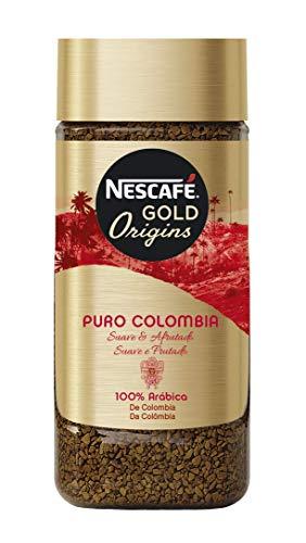 NESCAFÉ Café Puro Colombia Café Soluble, Bote de cristal, Paquete de 6x100g de Café - Total: 600 g