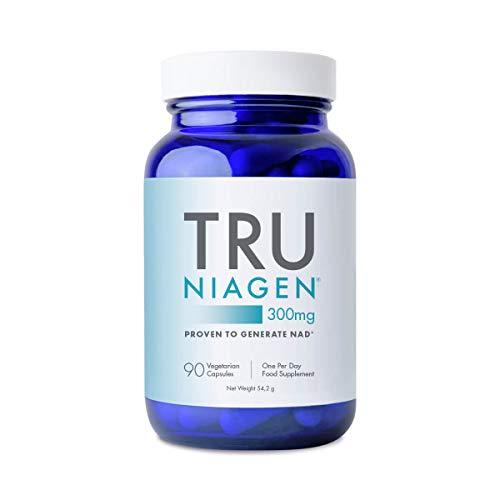 TRU NIAGEN Nikotinamid Ribosidklorid - Patenterad 300 mg NAD + Booster för minskning av trötthet och trötthet, 300 mg vegetariska kapslar, 300 mg per portion 90 räkningar (3 månader / 1 flaska)