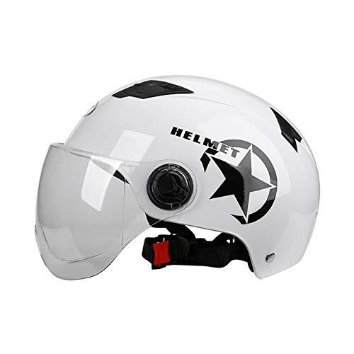 Bluetooth earphone Casco De Ciclismo, Modelo De Dibujos Animados Lindo Adulto Casco Eléctrico De Bicicleta Gafas Desmontables De Montaña Ajustable Casco De Ciclismo para Mujeres Hombres