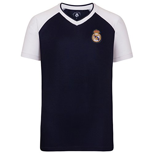 Real Madrid - Camiseta Oficial para Entrenamiento - para Hombre - Poliéster...