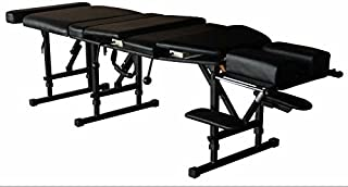Therapist's Choice® Arena 180 Portable Chiropractic Drop Table (Pelvic & Thoracic Drops included), Black