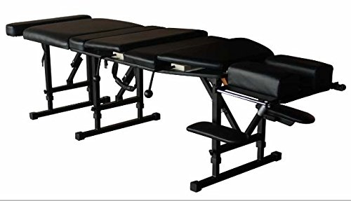 Therapist's Choice Arena 180 Portable Chiropractic Drop Table (Pelvic & Thoracic Drops Included), Black