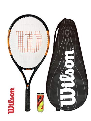 Wilson Burn Pro 105 Graphite Raqueta de Tenis (Varias Opciones) (Raqueta de Tenis, Funda y Pelotas)