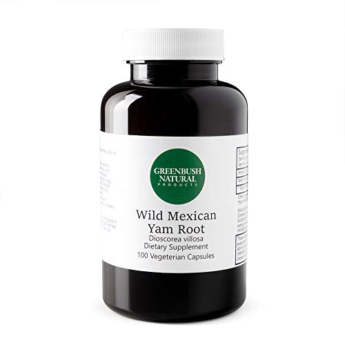 Greenbush Wild Yam Root | 575 mg, 100 Capsules | Women's Reproductive Health, PMS, Cramps, Hot Flashes