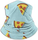 Cathycathy Pizza Pattern Neck Warmer Gaiter Windproof Mouth Scarf for Men Women Black