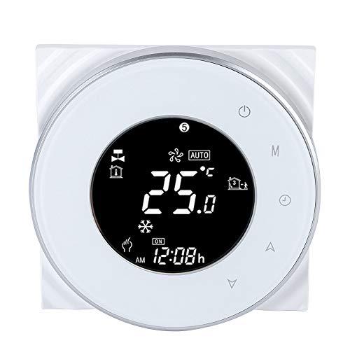 Wifi eléctrico Termostato Pantalla táctil LCD Termostato Soporte Control de la aplicación Controlador de temperatura por suelo radiante