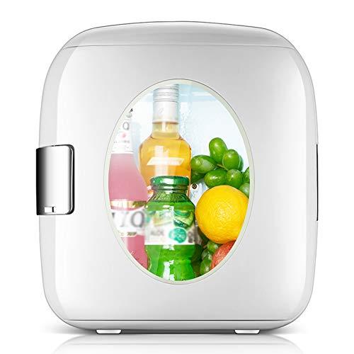 YSXFS Mini Nevera, 9 litros Mini Frifs, Refrigerador Pequeño Dormitorio Doméstico Dormitorio Mini Refrigerador Refrigerador Refrigerador para Bebidas Cosméticos/Maquillaje/Skincare(Color:Blanco)