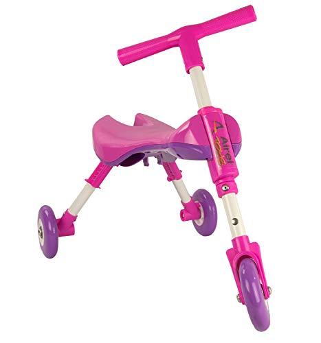 Airel Correpasillos Bebé Plegable | Triciclo Sin Pedales Infantil | de 1 A 3 Años, Niños, Rosa, Talla Única