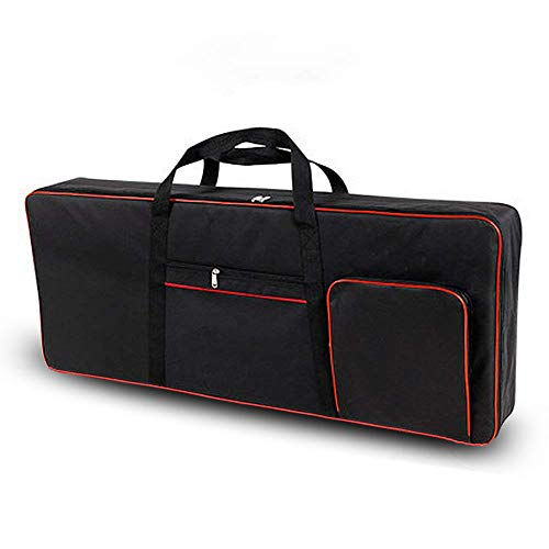 Ruibo 61 Key Keyboard Gig Bag Case,Portable Durable Keyboard Piano Waterproof 600D Oxford Cloth with 10mm Cotton Padded Case Gig Bag 40'x16'x6' / Black+Red
