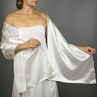 Stole donna satin scialli vestito da sposa nuziale poncho avorio off white