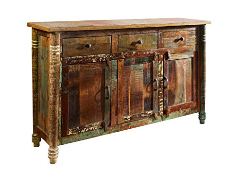 MASSIVMOEBEL24.DE Altholz lackiert Mehrfarbig Massivholz Sideboard Massivmöbel Vintage massiv Holz Möbel Fable #04