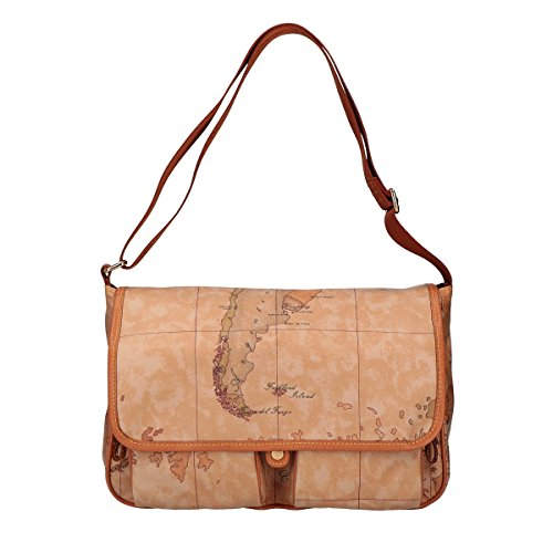 Alviero Martini shoulder bag baldric Geo Natural