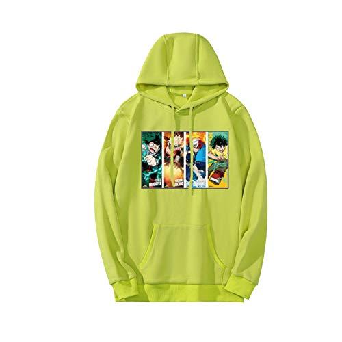 N\C Anime Academia Sudadera con Capucha Sudaderas para Adolescentes Fleece Ropa Deportiva Cálida Tops Pareja Pullover Sudaderas Harajuku