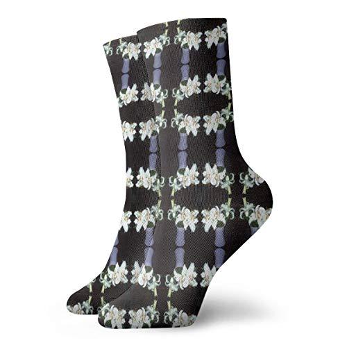 Socken damen 39-42 Flowers_in_Vase-ed_1334,100prozent Baumwolle rutschfest für Herren Damen one size.