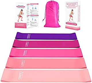 SKY-TOUCH Resistance Loop Exercise Bands, Perfect Athletics Resistance Bands with Instruction Guide and Carry Bag, Natural...