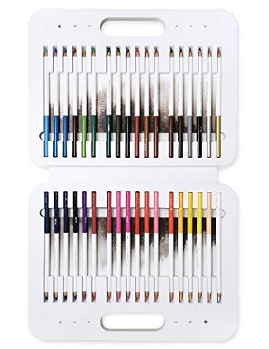 色鉛筆 塗り絵 水性ペン 36色セット 水彩カラーペン 両用タイプ マグネット吸着式ケース付き 事務 落書き 絵描き用 大人 子供用画材 自然観察 絵日記 入園 入学