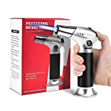 ERKOON Blow Torch Lighter Kitchen Cooking Culinary Torch Refillable Butane Torch with Safety