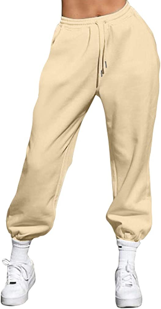 XXTAXN Now on sale Women's Drawstring Max 52% OFF Waist Sweatpants with Joggers Po Pants