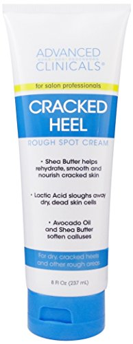Advanced Clinicals Cracked Heel Cream For Dry Feet, Rough Spots, And Calluses. (8oz)