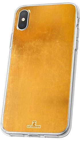 LA COQUERIE - Cover effetto oro per Asus Zenfone 2 Laser (ZE500KL Calcio personalizzabile in silicone nome e numero