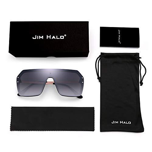 JIM HALO Occhiali da Sole Protezione Oversized