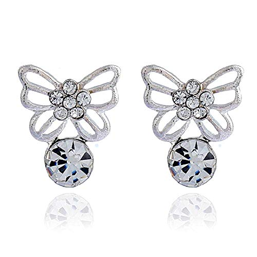 TIANYOU Retro Diamante Artificial Mariposa Hollow Pendientes Pendientes Joyas Pendientes Drop Ri