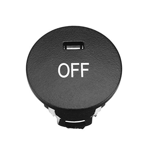 Fincos New Car Off/Rest/Max Heater Climate Control Knob Panel Air Conditioner Button Switches Repair Cap Cover for BMW 5 Series E60 E61 - (Color: Off)