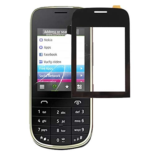 Liluyao Telefono Ricambi Touch Panel for Nokia Asha 202 (Nero) (Colore : Black)