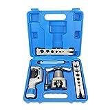 Kit di strumenti per svasatura manuale dei tubi 5 in 1 Kit di strumenti per svasatura dei freni per espansori di tubi in rame per la riparazione del frigorifero