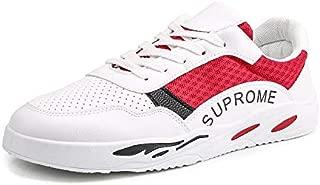 FYXKGLa Summer New Canvas Shoes Men's Breathable Men's Casual Running Shoes Wild Sports Shoes Shoes Trend Shoes Men (Color : Red, Size : 40EU)
