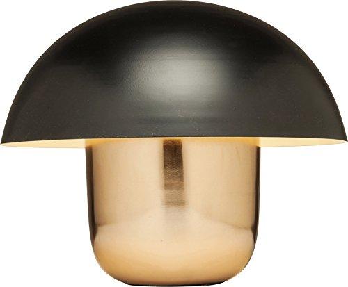 Kare Design Tischleuchte Mushroom Copper Black, Schwarz - Kupfer Stehleuchte, moderne Leuchte, Design Nachttischlampe in Pilzform, (HxBxT) 44x50x50cm
