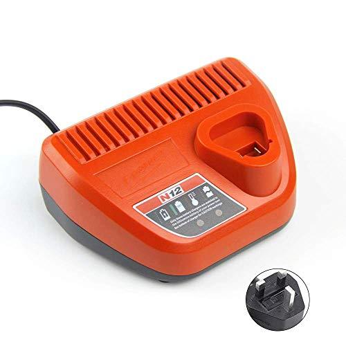 WYZXR Dispositivo de Carga de batería de Iones de Litio de 110-240 V Compatible con Milwaukee 48-11-2401 48-11-2402 C12 B C12 Bx M12