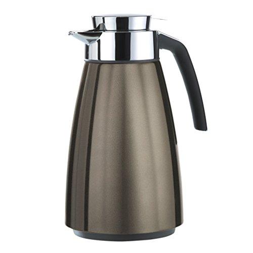 Emsa 513817 Isolierkanne, Edelstahl 1.5 Liter, Aroma Diamond, Quick Tipp Verschluss, Chocolate, Bell