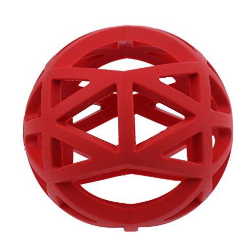 Sharplace Vollgummi Gitterball Hundespielzeug Ball Hundespiel Kauspielzeug Ball Gummiball für Hunde/Katzen - Rot - S
